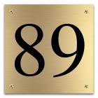 Huisnummers Messing