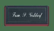 Gravoglas naambord zwart (klein)