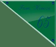 Glaslook naambord 30 x 25 cm