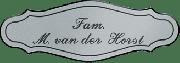 Kunststof naamplaatje zilverkleurig 12.5 x 4cm