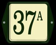 Emaille huisnummer met oor