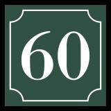 Huisnummerbord klassiek 10 x 10 cm groen