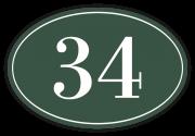Huisnummerbord klassiek ovaal 12 x 8 cm groen