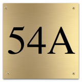 Messing huisnummerbord 12 x 12 cm