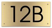 Messing huisnummerbord 15 x 7.5 cm