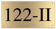 Messing huisnummerbord 20 x 10 cm