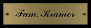 Messing naamplaatje gegraveerd 12 x 3 cm