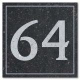 Naambord / huisnummerbord Belgisch blauwsteen 15 x 15 cm
