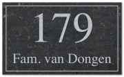 Naambord Belgisch blauwsteen 25 x 15 cm