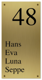 Messing naambord gegraveerd 12 x 24 cm