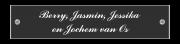 Naamplaatje met nostalgische uitstraling 14,5 x 3 cm zwart