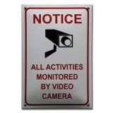 Veiligheidsbord CCTV camerabeveiliging 20 x 30 cm