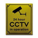 Veiligheidsbord CCTV 16 x 19 cm