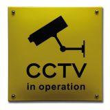 Veiligheidsbord CCTV 20 x 20 cm