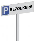 Parkeerpaal Bezoekers Aluminium