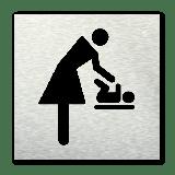 Pictogram vierkant Baby verschoonruimte