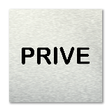 Pictogram vierkant Prive