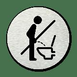 Basic pictogram Niet staand plassen / zittend plassen