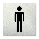 Pictogram vierkant Toilet heren