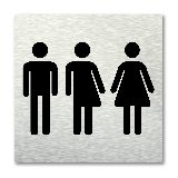 Pictogram vierkant Toiletten gender neutraal