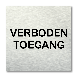 Pictogram vierkant Verboden toegang