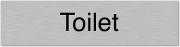 Aluminium deurbordje toilet