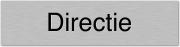 Aluminium deurbordje directie