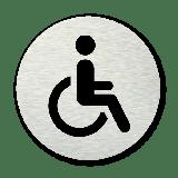 Pictogram rond Invalidentoilet (rolstoel)
