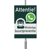 WhatsApp Buurtpreventie bord 40 x 60 cm