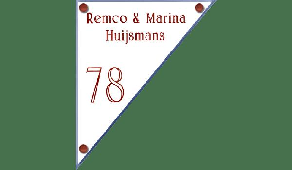 Perspex naambord