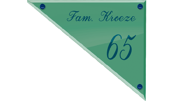 Glaslook naambord