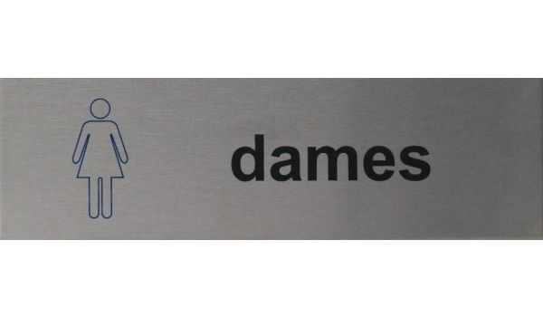 RVS pictogram wc dames