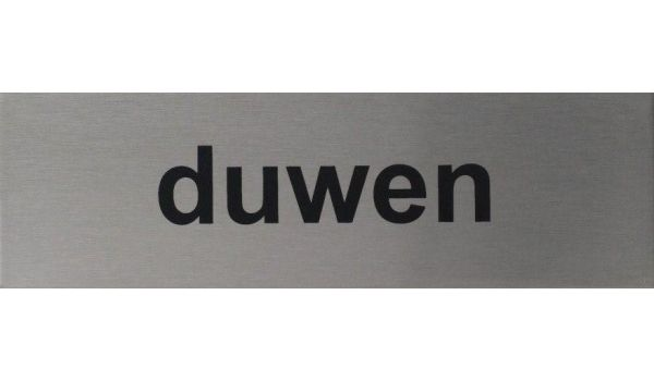 RVS pictogram Duwen