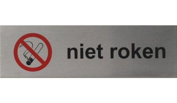 RVS pictogram Niet roken