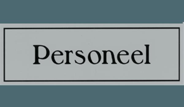 Kunststof deurbord personeel