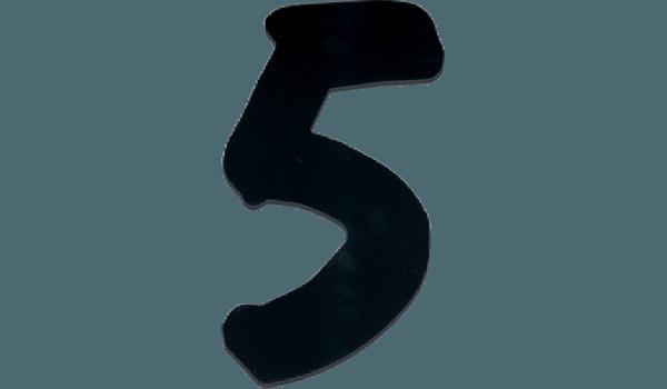 Perspex huisnummers zwart speels