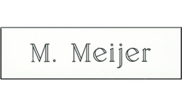 Kunststof naamplaatje