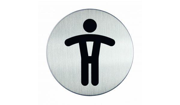 RVS pictogram WC heren
