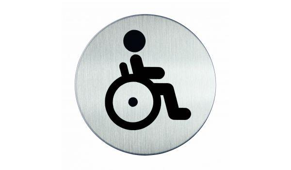 RVS pictogram WC invaliden