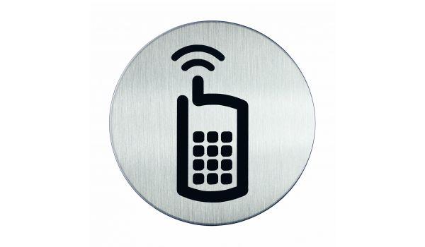 RVS pictogram mobiele telefoon
