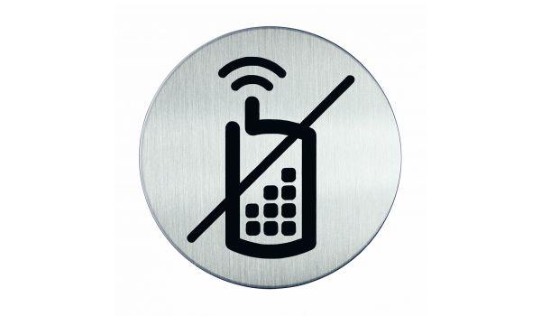 RVS pictogram bellen verboden