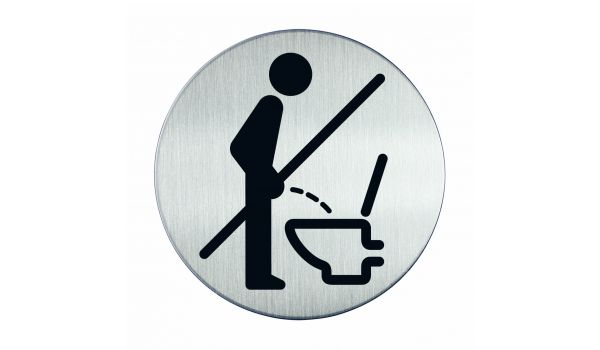 RVS pictogram niet staand plassen