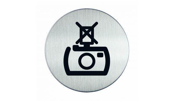 RVS pictogram flitsen verboden