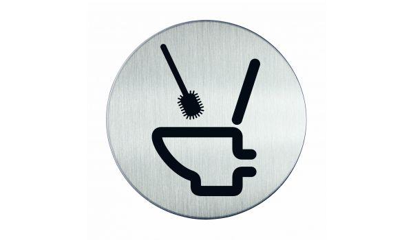 RVS pictogram WC schoonmaken