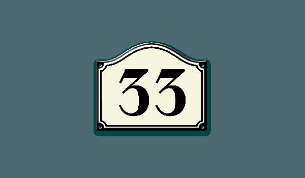 Kunststof huisnummer gegoten