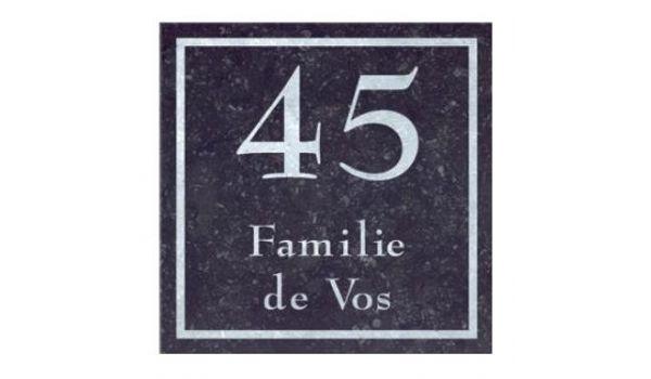 Natuursteen naambord vierkant