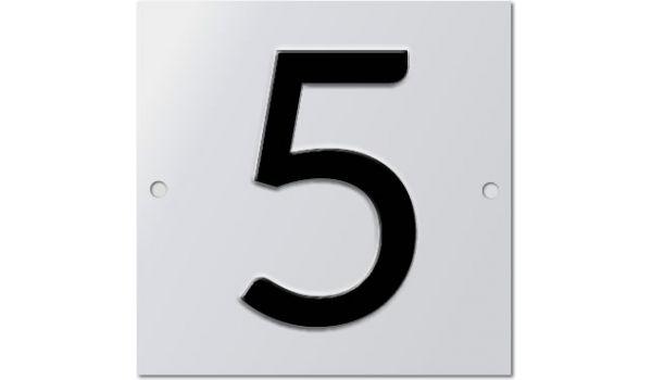 Aluminium huisnummer geperst 1 teken