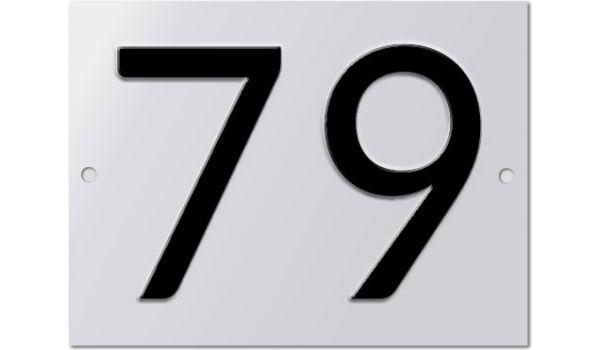 Aluminium huisnummer geperst 2 tekens