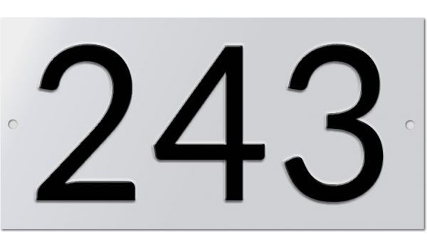 Aluminium huisnummer geperst 3 tekens