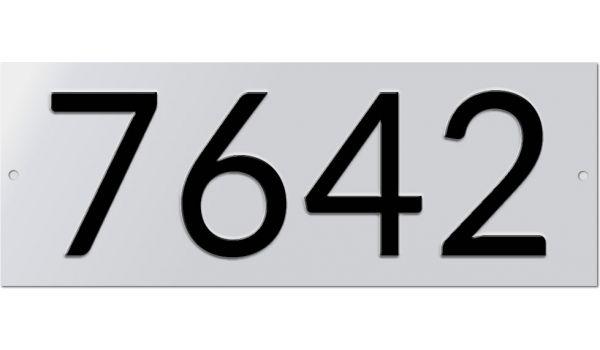 Aluminium huisnummer geperst 4 tekens